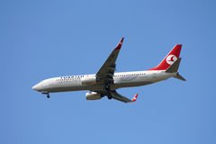 Turkish Airlines Boeing 737 Imagem de Stock Royalty Free