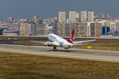 Turkish Airlines Boeing 737 Immagini Stock