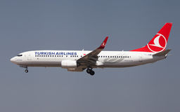 Turkish Airlines Boeing 737 Royalty Free Stock Photo