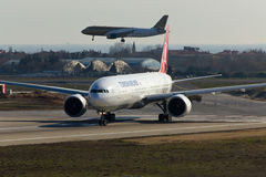Turkish Airlines Boeing 777-300ER Fotografia Stock