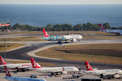 Turkish Airlines Boeing 777 Royalty Free Stock Photography