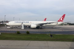 Turkish Airlines Boeing 777-300 Stock Images