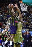 Turkish Airlines Euroleague game Budivelnik vs Fenerbahce Ulker Royalty Free Stock Image
