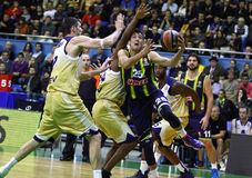 Turkish Airlines Euroleague game Budivelnik vs Fenerbahce Ulker Royalty Free Stock Photography