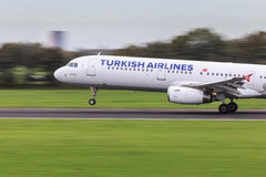 Turkish Airlines fast take-off Royalty Free Stock Photography
