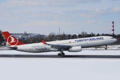 Turkish Airlines flygbuss A330 Arkivbilder