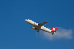 Turkish Airlines flygbuss A319 Arkivbilder