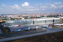 Turkish Airlines Hangar, Ataturk Airport Stock Photography