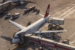 Turkish Airlines-het Inschepen Stock Foto
