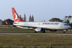 Turkish Airlines 737-800 Stock Photos