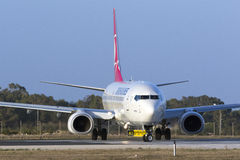 Turkish Airlines 737-800 Royalty Free Stock Photography