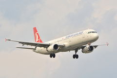 Turkish Airlines plane Stock Photography