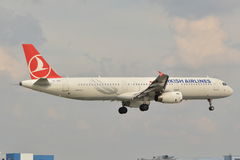 Turkish Airlines plane Royalty Free Stock Photography