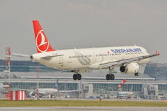 Turkish Airlines plane Royalty Free Stock Images