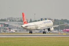 Turkish Airlines plane Stock Images