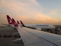 Turkish Airlines strumienie Obrazy Royalty Free