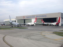 Turkish Airlines Technic hangar Stock Photography