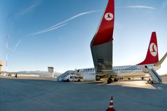 Turkish Airlines Wing Kastamonu Airport Turkey Royalty Free Stock Images