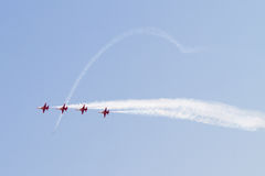 Turkish Airplanes Formation in Air Show Royalty Free Stock Photos