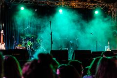 First Day Of Annual Golden Buttonwood Music Festival In Cinarcik Town - Turkey. Turkish Altincinar or Golden Buttonwood Music Festival held in Cinarcik town of stock photography