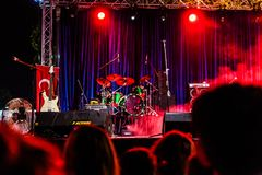 First Day Of Annual Golden Buttonwood Music Festival In Cinarcik Town - Turkey. Turkish Altincinar or Golden Buttonwood Music Festival held in Cinarcik town of stock photo