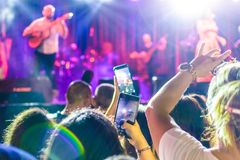 Crowd On Annual Golden Buttonwood Music Festival In Cinarcik Town - Turkey. Turkish Altincinar or Golden Buttonwood Music Festival held in Cinarcik town of the royalty free stock photography