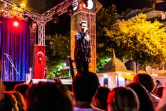 First Day Of Annual Golden Buttonwood Music Festival In Cinarcik Town - Turkey. Turkish Altincinar or Golden Buttonwood Music Festival held in Cinarcik town of royalty free stock photography