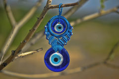 Turkish amulet on a tree branch Stock Images