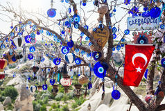 Turkish amulet on the tree Royalty Free Stock Photo