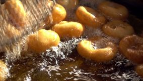 Turkish Anatolia Traditional Sweet Dessert Donut Named Lokma. Delicious Looking video stock video footage