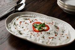 Turkish Appetizer Haydari with yogurt Tzatziki Royalty Free Stock Photo