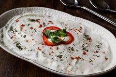 Turkish Appetizer Haydari with yogurt Tzatziki Royalty Free Stock Photography