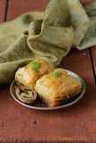 Turkish arabic dessert baklava with honey and nuts Royalty Free Stock Photo