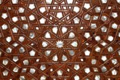 Turkish art of ornament wood. Royalty Free Stock Photos