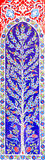 Turkish artistic wall tile at the Fatih Mosque. In Izmir. impressive ancient Handmade Turkish Tiles royalty free stock images
