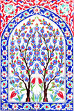 Turkish artistic wall tile at the Fatih Mosque. IZMIR, TURKEY - : Turkish artistic wall tile at the Fatih Mosque in Izmir. impressive ancient Handmade Turkish royalty free stock photos