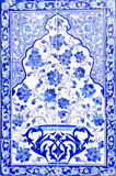 Turkish artistic wall tile. At the Fatih Mosque on July 31, 2014 in Izmir. impressive ancient Handmade Turkish Tiles royalty free stock photos