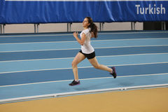 Turkish Athletic Federation Olympic Threshold Indoor Competition Royalty Free Stock Image