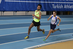 Turkish Athletic Federation Olympic Threshold Indoor Competition Stock Images