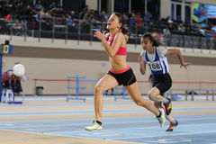 Turkish Athletic Federation Olympic Threshold Indoor Competition Royalty Free Stock Photos