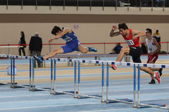Turkish Athletic Federation Olympic Threshold Indoor Competition Royalty Free Stock Photo