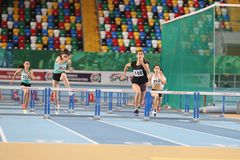 Turkish Athletic Federation Olympic Threshold Indoor Competition Royalty Free Stock Images