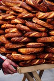 Turkish bagel. Delicious turkish bagel with sesame Stock Photography