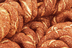 Turkish bagel bread called Simit in Istanbul Stock Photos