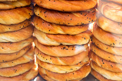 Turkish bagel bread called Simit in Istanbul, Turkey Royalty Free Stock Image