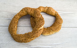 Turkish bagel, sesame bagel, crispy bagel, turkey bagels, bagels in various concepts, tea and pretzels pictures Stock Photography