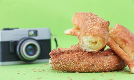 Turkish bagel simit Stock Image