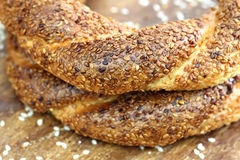 Turkish bagel, simit. Royalty Free Stock Photography
