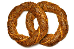 Turkish bagel, simit. Royalty Free Stock Images