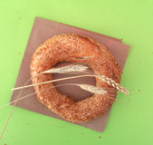 Turkish bagel simit Royalty Free Stock Image